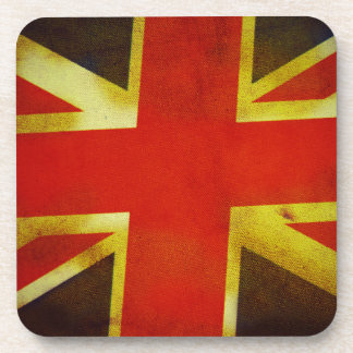 Weathered British Flag Drink Coasters