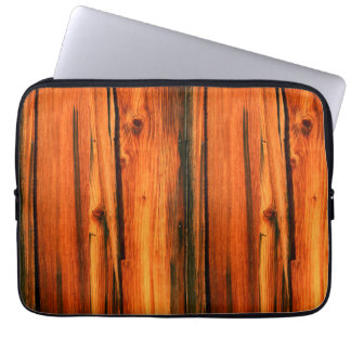 weathered brown barnboards laptop sleeve