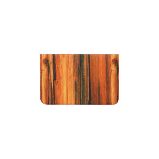 weathered brown wood Thunder_Cove Business Card Holder
