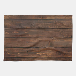 Weathered Brown Wood Wall Texture Hand Towel