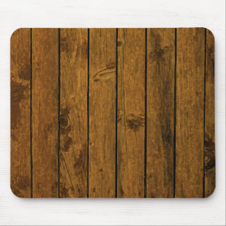 Weathered brown wood wall texture mouse pad