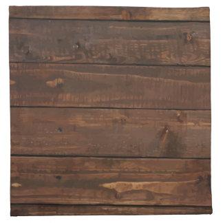 Weathered Brown Wood Wall Texture Napkin