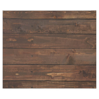 Weathered Brown Wood Wall Texture Wrapping Paper