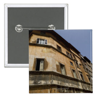 Weathered buildings, Rome, Italy 2 Pinback Button