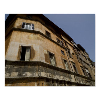 Weathered buildings, Rome, Italy 2 Poster