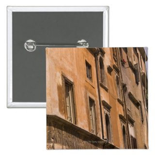 Weathered buildings, Rome, Italy 3 Pinback Button
