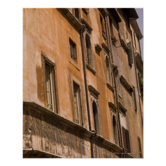 Weathered buildings, Rome, Italy 3 Poster