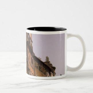 Weathered buildings, Rome, Italy Two-Tone Coffee Mug