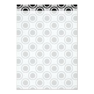 Weathered bullseye 5x7 paper invitation card