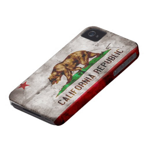 Weathered California Flag iPhone 4 Cover