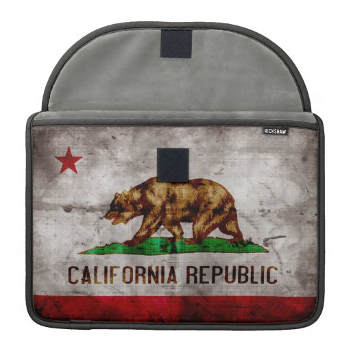 Weathered California Flag MacBook Pro Sleeve