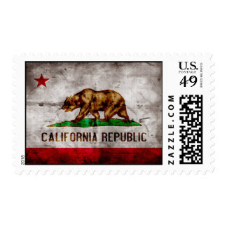 Weathered California Flag Stamp