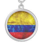 Weathered Colombia Flag Custom Jewelry