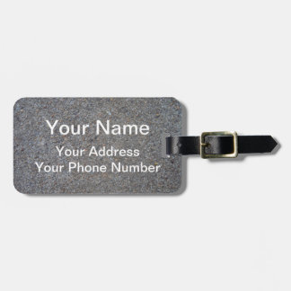 Weathered Concrete Bag Tag