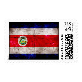 Weathered Costa Rica Flag Postage Stamp