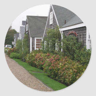 Weathered Cottages Classic Round Sticker