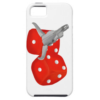 Weathered Cows Skull With Gambling Craps Dice iPhone SE/5/5s Case