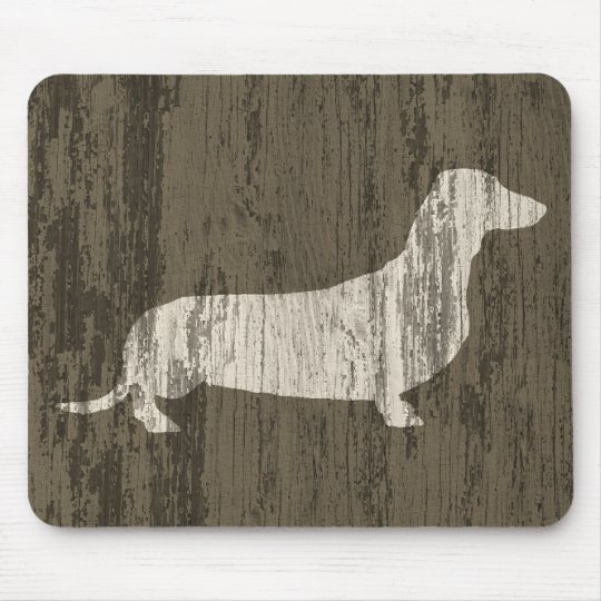 Weathered Dachshund Mouse Pad