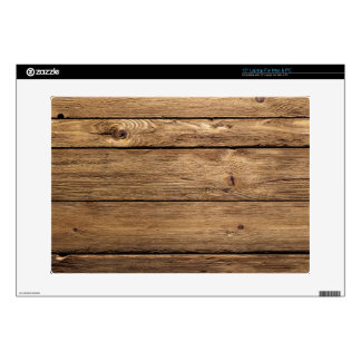 "Weathered Dark Planks Decals For 15"" Laptops"