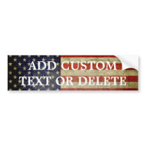 Weathered, distressed American Flag Bumper Sticker