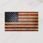 Weathered, distressed American Flag Business Card
