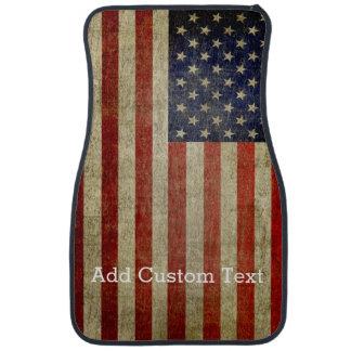 Weathered, distressed American Flag Car Floor Mat