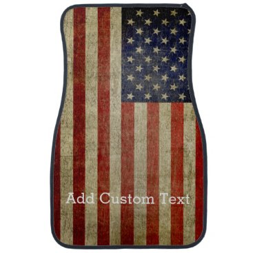 My2Cents Weathered, distressed American Flag Car Floor Mat