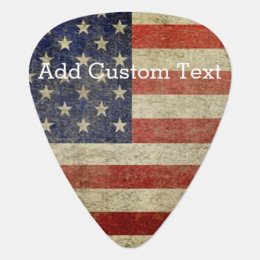 My2Cents Weathered, distressed American Flag Guitar Pick