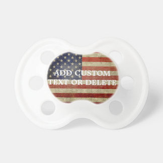 Weathered, distressed American Flag Pacifier