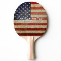 Weathered, distressed American Flag Ping-Pong Paddle