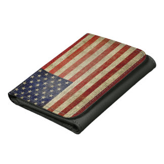 Weathered, distressed American Flag Wallets