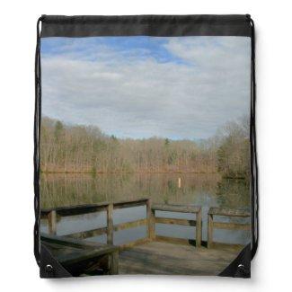 Weathered Dock Drawstring Bag