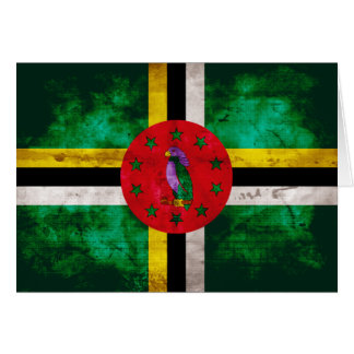 Weathered Dominica Flag Card