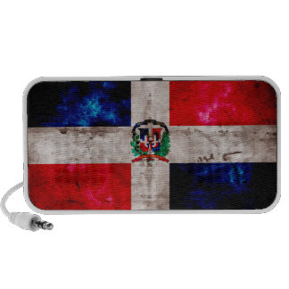 Weathered Dominican Republic Flag iPhone Speaker
