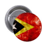 Weathered East Timor Flag Button
