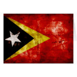 Weathered East Timor Flag Card