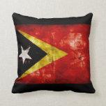 Weathered East Timor Flag Pillows