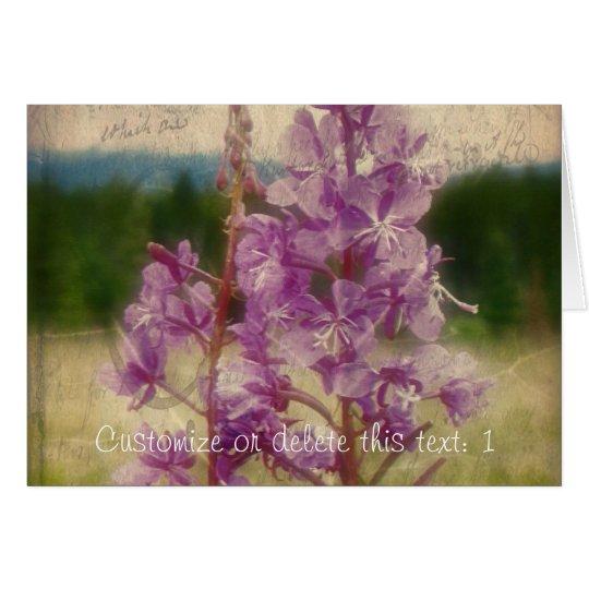 Weathered Fireweed; Customizable Card
