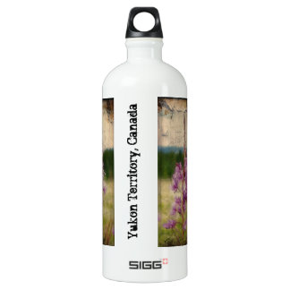 Weathered Fireweed; Yukon Territory Souvenir Aluminum Water Bottle