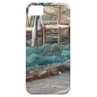 Weathered fishing nets on a harbor pier iPhone SE/5/5s case