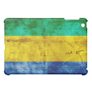 Weathered Gabon Flag iPad Mini Cover