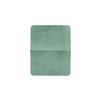 Weathered Green Watercolor Wash Card Wallet