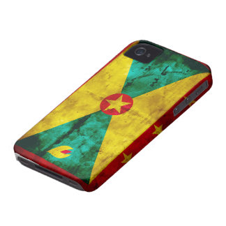 Weathered Grenada Flag iPhone 4 Case-Mate Case