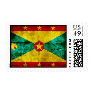 Weathered Grenada Flag Stamps