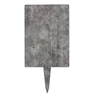 Weathered Grey Cement Sidewalk Cake Topper