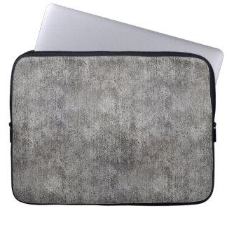 Weathered Grey Cement Sidewalk Computer Sleeve