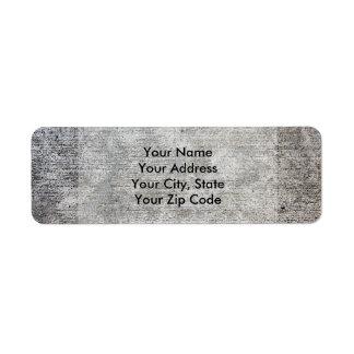 Weathered Grey Cement Sidewalk Label