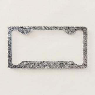 Weathered Grey Cement Sidewalk License Plate Frame