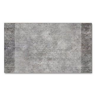Weathered Grey Cement Sidewalk Magnetic Business Card