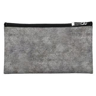 Weathered Grey Cement Sidewalk Makeup Bag